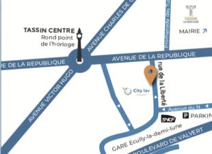 Comment nous trouver au 6 rue de la liberté, Tassin